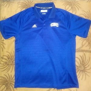"""Blue Adidas polo """"Large"""""""